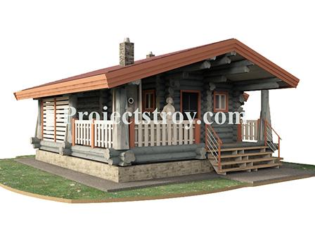 Красивые и интересные проекты деревянных домов и бань