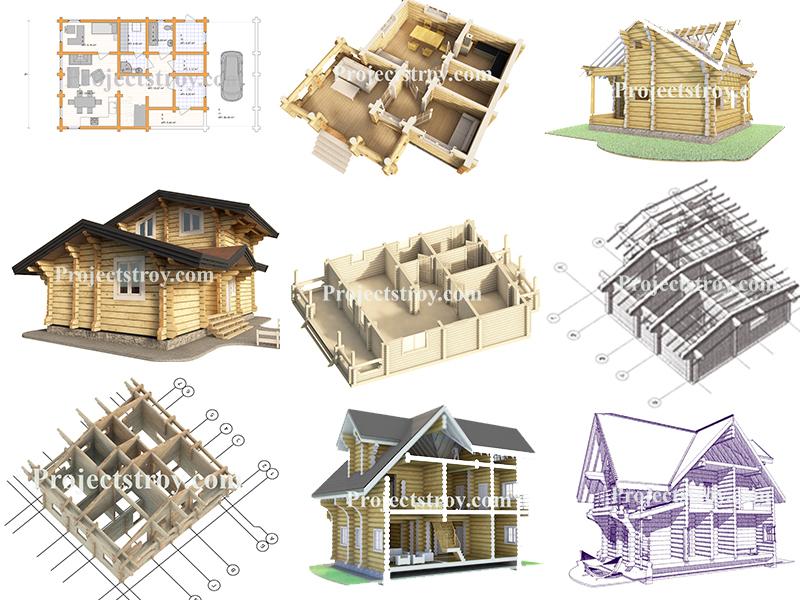 Проекты, проектирование деревянных домов, бань, срубов. Разбревновка, разбрусовка, порядовка, побрусовка.