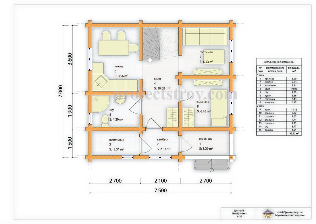 Планировка дома из бруса картинки